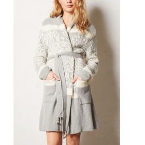 E by Eloise Anthropologie grey sweater cardigan l